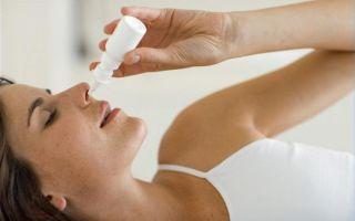 Капли от насморка при беременности